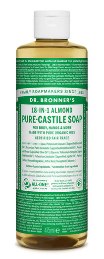 DR. BRONNER'S 18-IN-1 NESTESAIPPUA - MANTELI 475ML