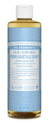 DR. BRONNER'S 18-IN-1 NESTESAIPPUA - HAJUSTEETON 475ML