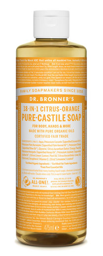 DR. BRONNER'S 18-IN-1 NESTESAIPPUA - SITRUS 475ML