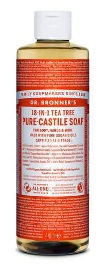 DR. BRONNER'S 18-IN-1 NESTESAIPPUA - TEEPUU 475ML