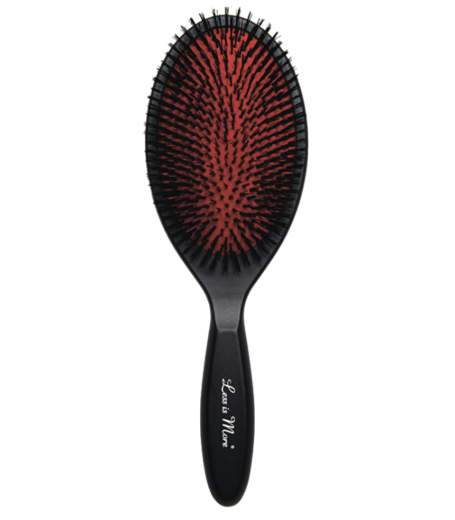 Less is More Oval Brush - Wild boar bristle - Ovaali hiusharja villisiankarvaa